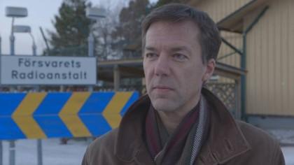 Fredrik Wallin, talsperson for FRA, sier samarbeidet med Norge er godt (Foto: SVT.se)