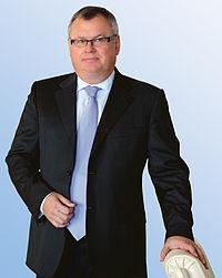 Styreleder og CEO Andrej Kostyn i VTB Bank kan rammes av EU`s straffetiltak. Norge eier 4,6 prosent av VTB-Bank( Foto: VTB)