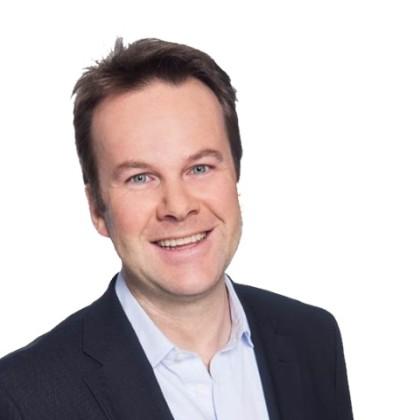 Henning  Lunde, ny kommunikasjonssjef i Netcom, har lovlige basestasjoner i Oslo i TeliaSonera -gruppen(Foto:NetCom)