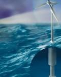 Potensialet for flytende vindkraft er enormt. Illustrasjon: Bjarne Stenberg, SINTEF.