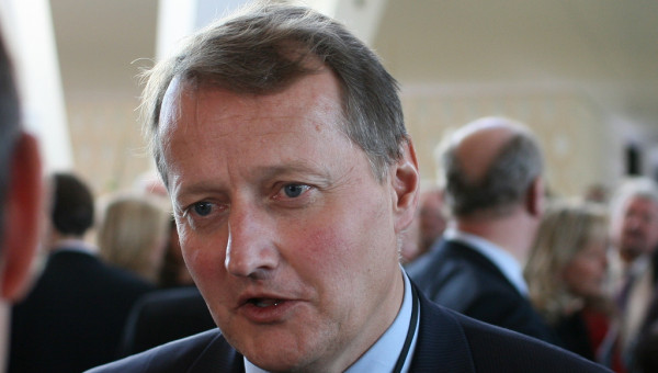Konsernsjef Rune Bjerke  i DnB får et godt skussmål i en fersk europeisk bankanalyse( Foto: Flickr)