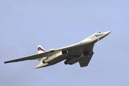 ombeflyet Tupolev TU- 160, flyet kalles Blackjack på NATO-språk, fløy langs norskekysten i fjor høst( Foto: Wikipeddia)