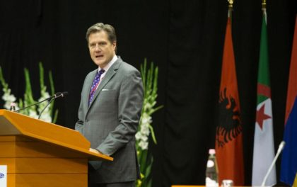 NATO's Parliamentary Assembly President, US Congressman Michael R. Turner speaks in Albania(Photo:Ap)