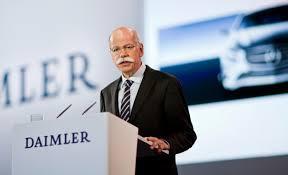 Konsernsjef Dieter Zetsche i tyske Daimler deleer ut mest i utbytte for 2015 Foto: Daimler)