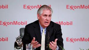 CEO Rex Tillerson i Exxon mobile gjorde det bra i det norske oljefondets aksjeportefølje i 2016( med forhold for desember 2016) ( Foto. ExxonMobile)