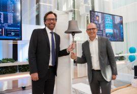 ringer inn et nytt  medisinsk selskap på Stockholmbørsen( Foto: Nasdaq)Christer åberg i Sedana Medical