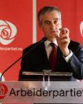 Jonas Gahr Støre vant valgduellen i Arendal8Foto:Europabevegelsen)