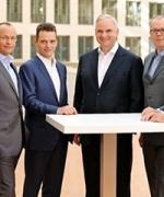 Fra venstre til høyre: Jørgen Kildahl, Mike Winkel, Leonhard Birnbaum, Johannes Teyssen, Klaus Schäfer, Bernhard Reutersberg