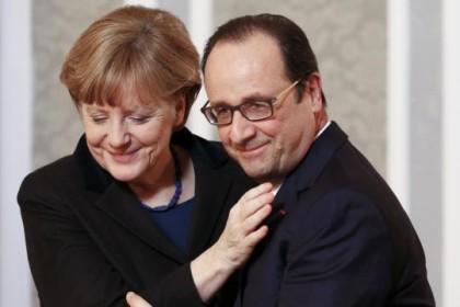 Kansler Angela Merkel har gjort en stor  diplomatisk innsats denne uken og   Europa en skjør fred( Foto: Reuters/DieWelt)