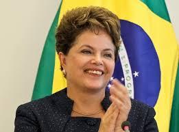 President Dilma Rouseff, som har vært styreleder i Petrobras har møtt flere hundre tusen  rasende mennesker i gatene(Foto:  PMO)