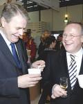 Sven Erik Svedman, tidligere ambassadør i Berlin, her sammen med tidligere landbruksminister Lars Peder Brekk (Foto: Regjeringen)
