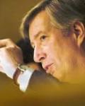Tidligere finansminister Sigbjørn Johnsen, her fotografert av Norges Handels og Sjøfartstidenes fotograf( Kilde( NH&ST)