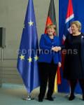 Kansler Angela  Merkel og statsminister Erna Solberg under onsdagens  politiske  møte i Berlin( Foto: Bundeskanzleramt)