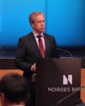Sentralbanksjef Øystein Olsen tror oljefondets verdi kan ha nådd toppen( Foto: Flickr)