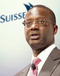 Styreleder og  CEO Tidjane Tiam, i Credit Suissse AG har fått det norske oljefondet som største enkeltaksjonær  i banken( Foto: Credit Suisse)