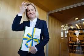 Finansminister Magdalena Andersson legger frem årets første julepresent: Sverige får høykonunktur de neste to årene( Foto: Regeringen.se)