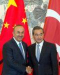 Foreign Minister Wang lee meets Turkish Melvin Cavusoglu(Photo: Ap)