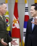 General Joe Dunford meets minister of Defence Song Yuong in South Korea( Photo: Associated Press)