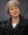 Brexit. Storbritanniens premierminister Theresa May på besøg i Danmark. Pressemøde med statsminister Lars Løkke Rasmussen (V) i spejlsalen på Christiansborg.
