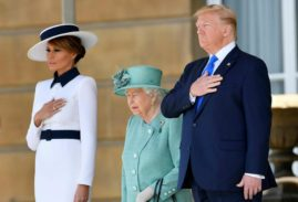 Political jibes mark Trump's first day in London