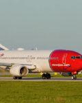 Prague, Czech Republic - April 29, 2016: Boeing 737 of Norwegian. Image was taken at Vaclav Havel airport.